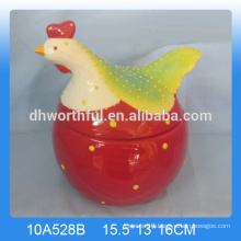 Lovely cock ceramic Easter cookie jar wholesale