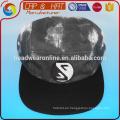 Negro y blanco lavado tye tinte 5 sombrero de panel gorro deportivo