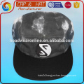 black &white washed tye dye 5 panel hat sport cap