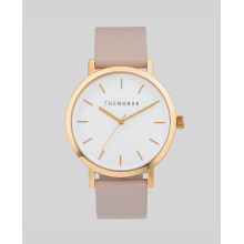 logos brand case stainless steel rose gold woman watch