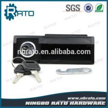 Cajón seguro de gabinete de luz plástico negro Cierre de cámara con llave