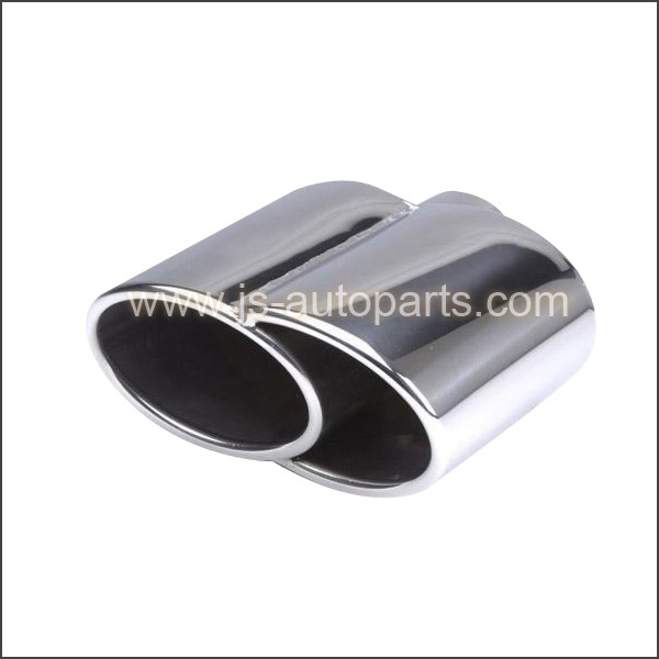SEMI OVAL EXHAUST TAILPIPE STAINLESS STEEL TIP