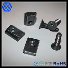 Alu-Stahl Schiebe-T-Muttern und Schrauben