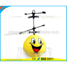 High Quality Charming Fashion Interesting Smile Face Heli Ball Infrared Ray Interaction Mini Craft