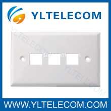Puerto de tres cara placa RJ45 de pared 3 puerto 70 * 115MM