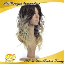 Cabelo de alta qualidade suprimentos Ombre Lace Wig cabelo humano peruca dianteira do laço