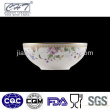 A062 Hot sale fine bone china decorative soup bowl porcelain