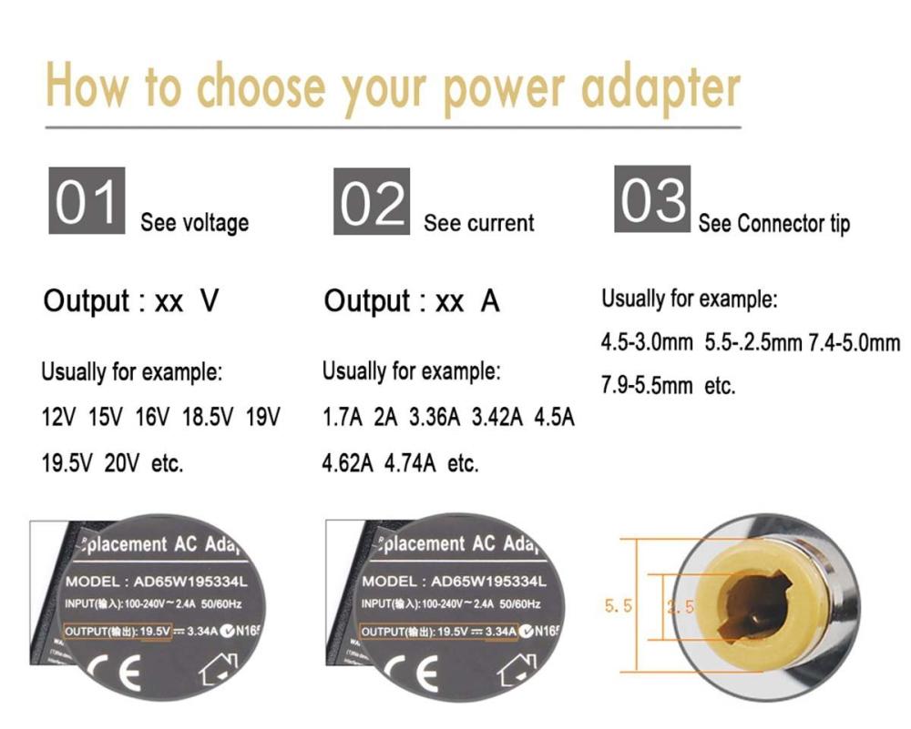 19V 3.42A Adapter