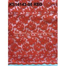 Cordão cordão africano de alta qualidade / cordão cordão francês tecido