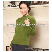 Camisola de caxemira feminina de tricô da máquina Stoll