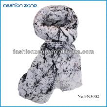 2014 new leaf splash-ink printing fashion long scarf