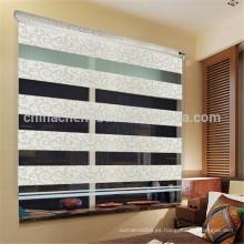 Diseño moderno jacquard cebra ceguera cortina arco iris ciegos