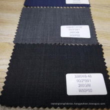 china best price 260g/m slim wool & polyester blend fabric for suit