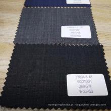 China melhor preço 260g / m fino lã e poliéster mistura de tecido para terno
