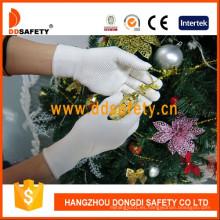 El PVC blanco puntea guantes de la seguridad de un lado uno con Ce Dkp413