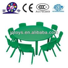Mesa redonda de plástico barata para crianças