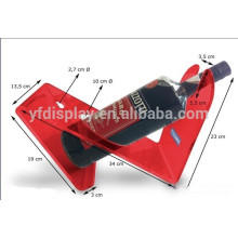 Tabletop Red Acrylic Wine Display
