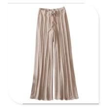 Polainas que hacen punto de las mujeres 100% pantalones de la cachemira con la correa de la cintura
