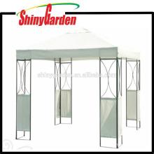 deluxe outdoor steel metal gazebo iron rome gazebo with sidewall
