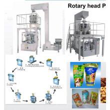 Máquina de envasado de bolsas rotativas prefabricadas de pie