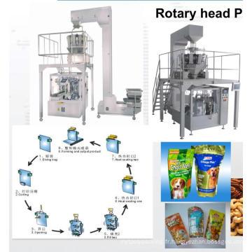 Machine de conditionnement de sachets préfabriqués rotatifs