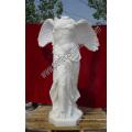Escultura tallada de mármol de la estatua del mármol de Carrara Escultura hermosa de la piedra de las mujeres (SY-X1009A)