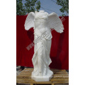 Carved Carrara Marble Statue Beautiful Women Stone Sculpture (SY-X1009A)