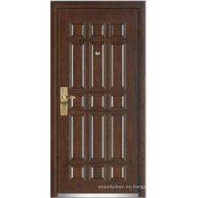 Puerta blindada de madera de acero (YF-G9003)