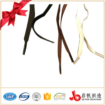 manufacturing flat colored custom wholesale shoelaces with different tips