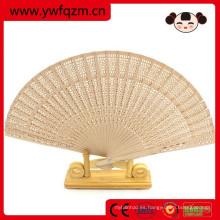 Abanico de bambú plegable de la promoción de los 21cm