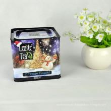 Lata china del té verde, lata cuadrada del té negro, lata hermética del té