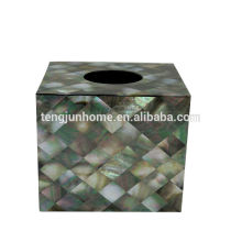 Black MOP shell tissue box acrylic tissue box
