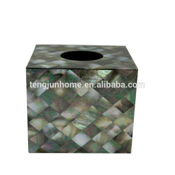 Schwarze MOP-Schale Tissue-Box Acryl-Gewebe-Box