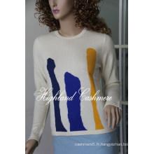 Pull Intarsia Femme Cachemire CIP1101L