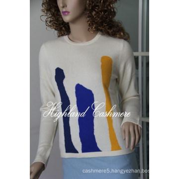 Ladies′ Cashmere Intarsia Pullover CIP1101L