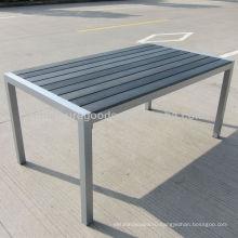 Сада пластичный деревянный стол