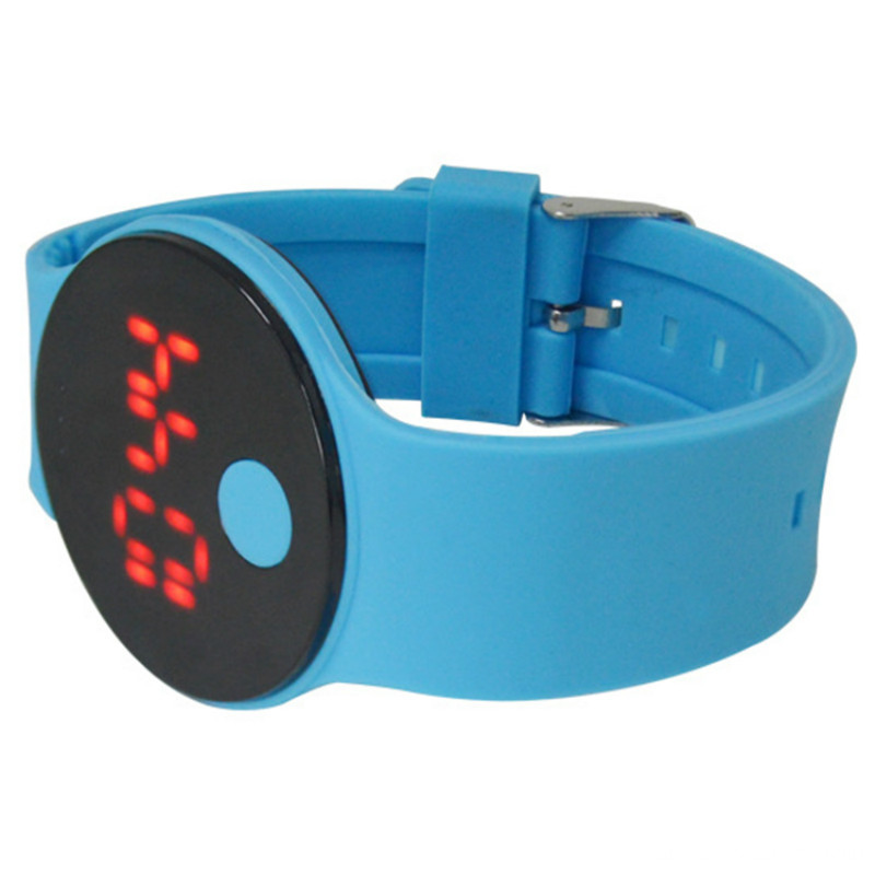 Candy color custom touch screen silicone led watch
