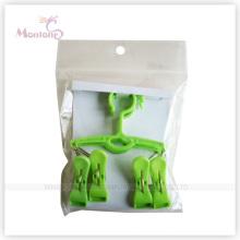 Faltbarer Kleiderbügel aus Kunststoff mit 4 Heringen