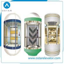 Красивый дизайн наблюдательной кабины лифта с хорошим качеством (OS41)