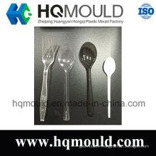 Personnalisez différents types de moule en plastique de cuillère et de fourchette