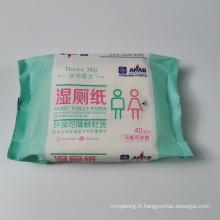 Lingettes jetables pour toilettes à usage domestique