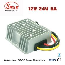 Fonte de alimentação do carro do conversor de 12V-24VDC 5A 120W DC-DC com impermeável