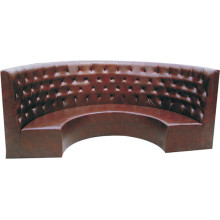 High Back Leather Corner Cafe or Restaurant Booth Sofa Wholesale