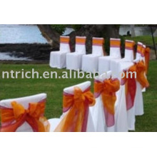 100%polyester chair covers,hotel/banquet/wedding chair covers,organza sash