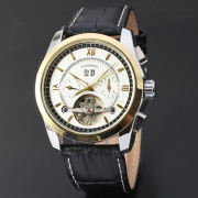 Mens Leather Details Watches With Custom Logo