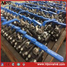 A105 Válvula de bola roscada de acero forjado NPT / Bw / Sw