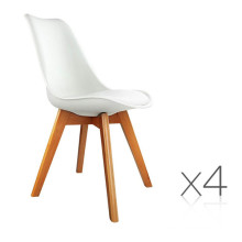 White PU Dining Chairs