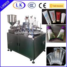 Máquina de enchimento da selagem do tubo plástico de alumínio para a loção dos cosméticos