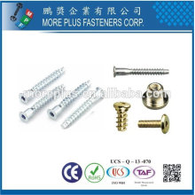 Taiwan Edelstahl 18-8 Kupfer Messing Common Hersteller Ltd Arten von speziellen Bolzen Möbel Schrauben und Befestigungen