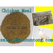 Comida de pollo (proteína 65%) para alimentación animal Sal caliente